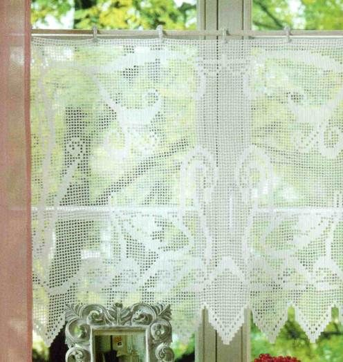 74 Best Images About Crochet Curtains On Pinterest Filet Crochet Crocheted Lace And Curtain