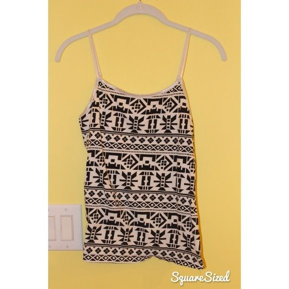 Tribal/Aztec print cami Black and white tribal/Aztec print Wet Seal Tops Camisoles