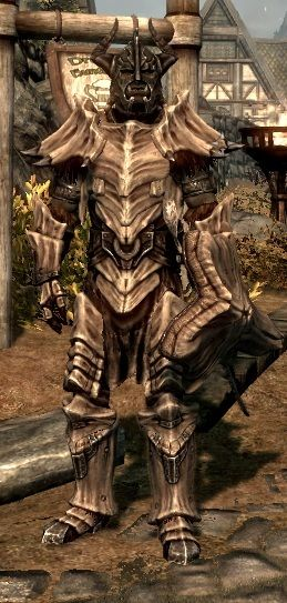 Skyrim Dragonplate Armor #skyrim #dawnguard #hearthfire<<I love how realistic skyrim's armour looks, like something someone could have crafted out of a dragon's bones.