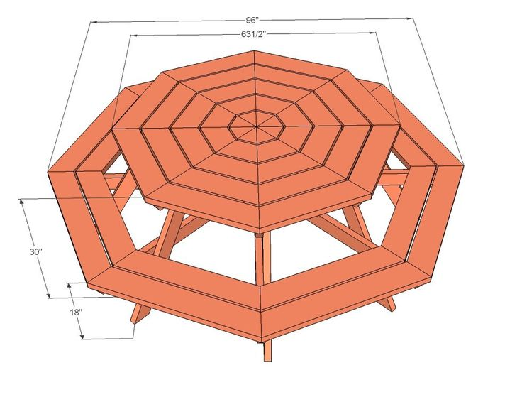 Picnic table plans |. Octagon Picnic Table | Free and Easy DIY Project ...