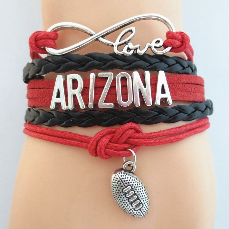 Infinity Love ARIZONA football Bracelet BOGO