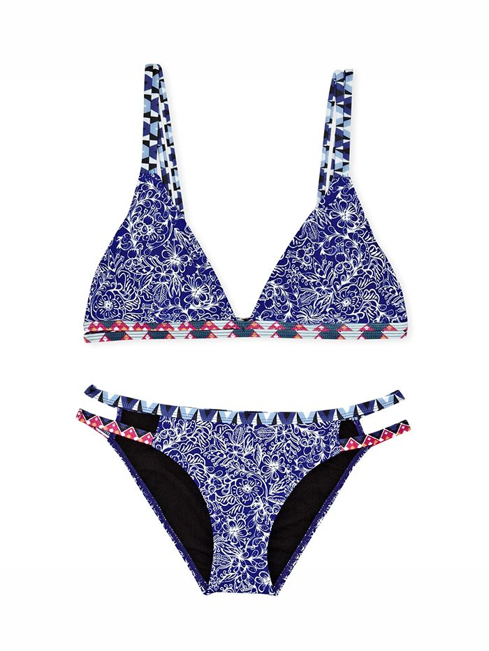 French Connection Roxy Triangle Bikini Top and Bikini Briefs