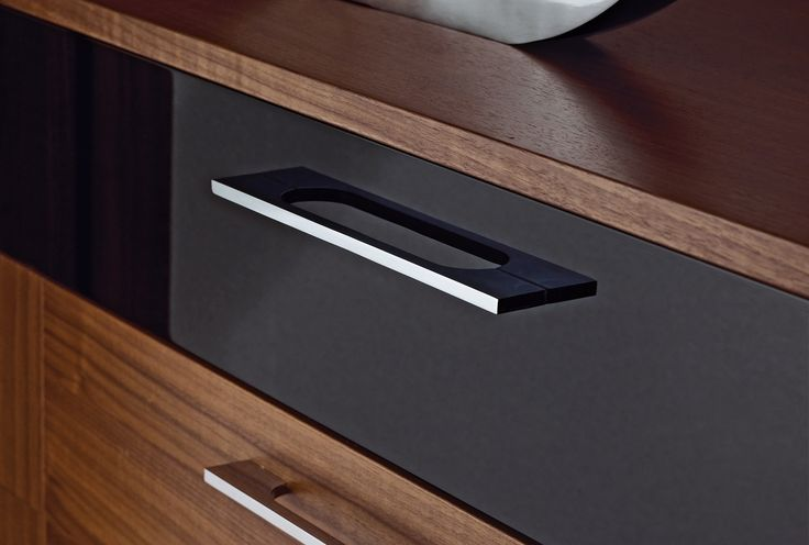 Chrome handles complete the Modena Black Bedroom Furniture range http://www.sharps.co.uk/fitted-bedrooms/modena/