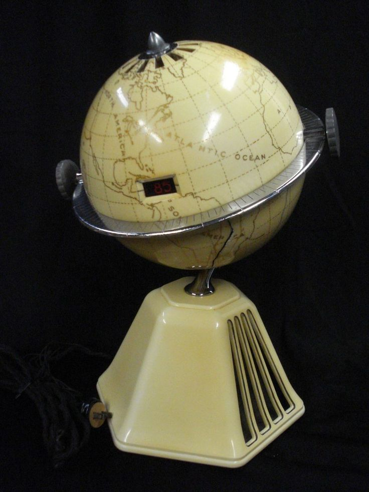 1933 Raymond Loewy Old World Colonial Globe Art Deco Bakelite Map Radio