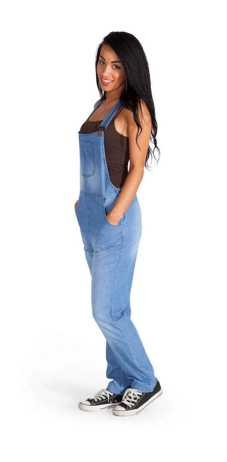 Bib Overalls Online US | Lightweight Blue Denim Bib Overalls | Ladies Dungarees