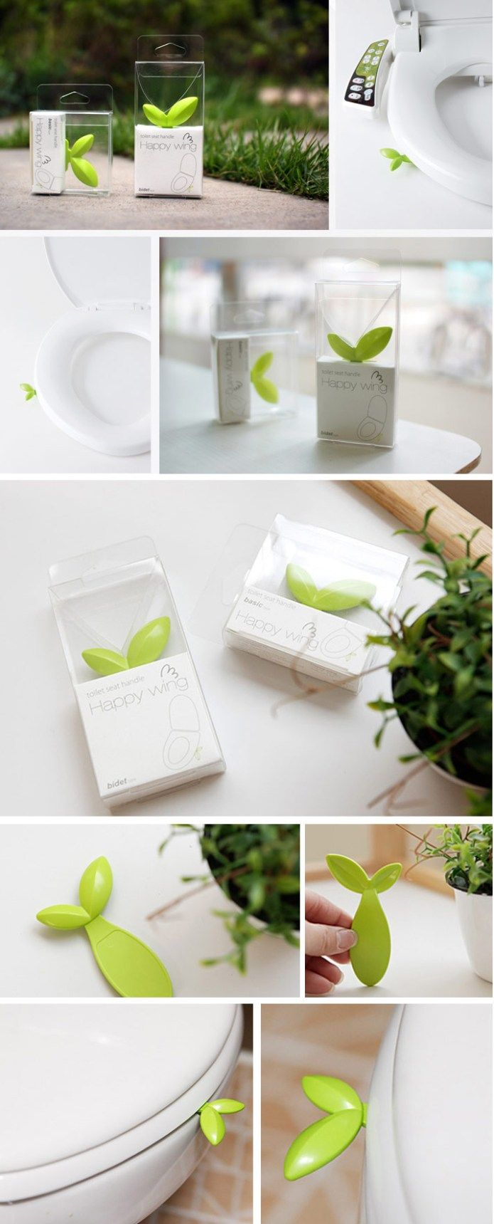 Leaf toilet seat handle bathroom pinterest utensilios ba os y tecnologia - Utensilios bano ...