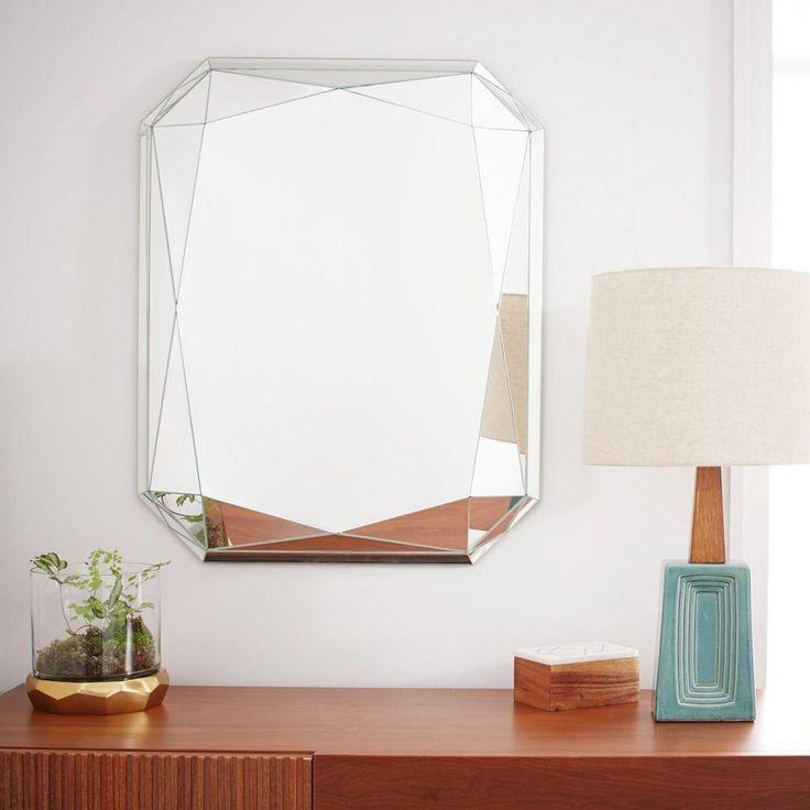 $350 Faceted Mirror - Emerald Cut