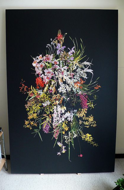 black background: Black Backgrounds, Arti Stuff, Art Inspiration, Stephen Eichhorn, Illustration, Artsy Fartsi, 6Ftx4Ft, Photos Shared, Flower