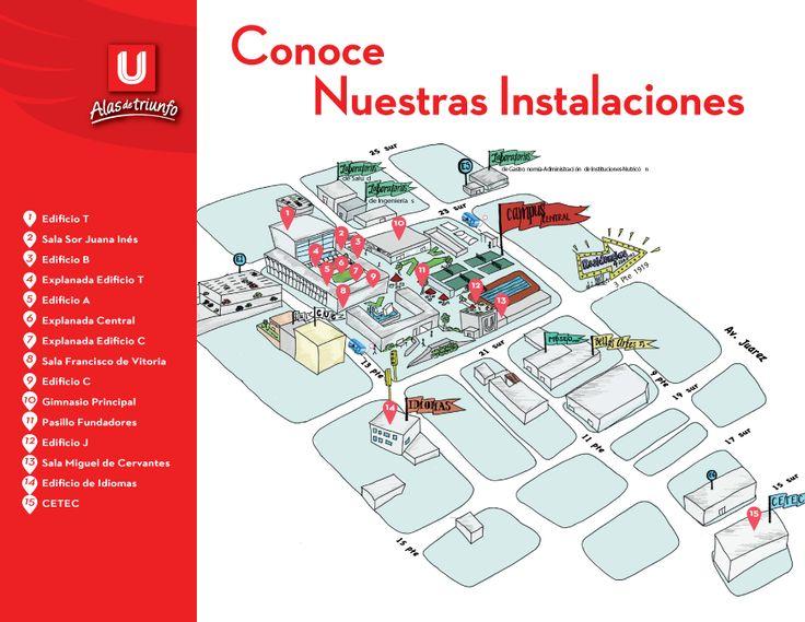 Mapa de ubicación UPAEP.