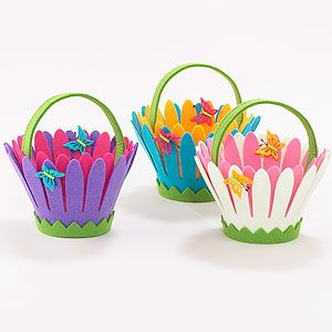 Daisy Flower Felt Containers at Cost Plus World Market