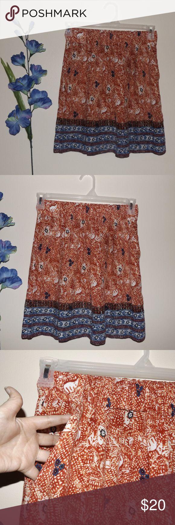Cabi Small Women's Boho Floral Mini Skirt Nice Nice condition mini skirt, size small. With pockets. CAbi Skirts Mini