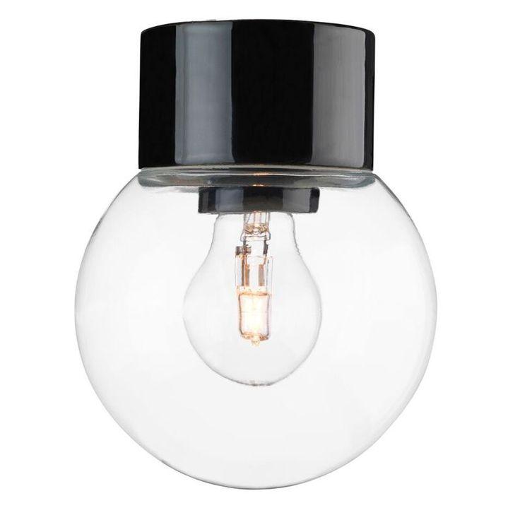 Ifö Electric Classic Glob Svart/Klar Ip54 Taklampa