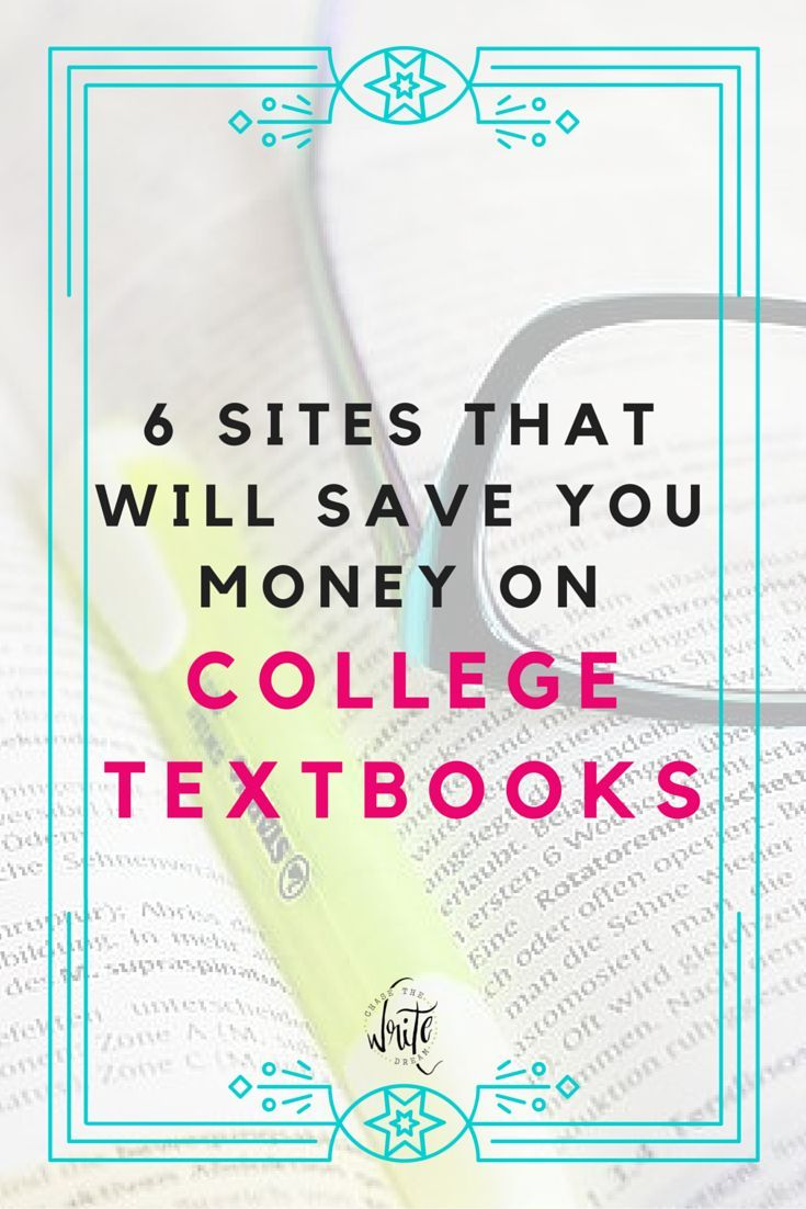 6 Sites That Will Save You Money on College Textbooks - Paying for college can get expensive. Cut down on the costs by buying your textbooks online! This is advice that every college student should follow. Great tips for school! Click through to read about all the ways to save money.
