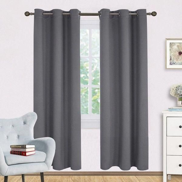 Bedroom Draperies Panels And Noise Reducing Thermal Insulated
