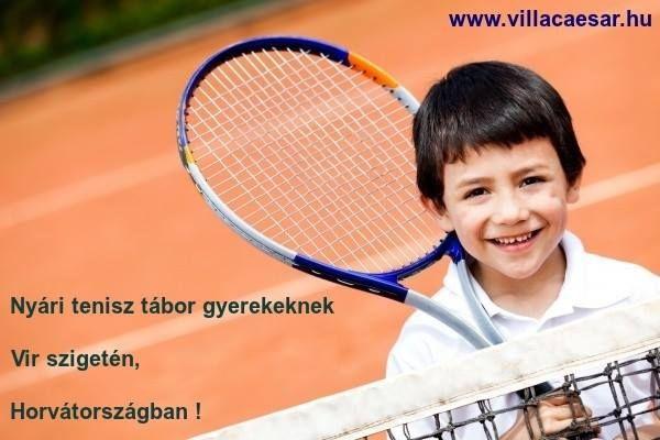 Tenisz tábor gyermekének ANGOL nyelvoktatással egybekötve #Horvátországban a #Vir szigeten.