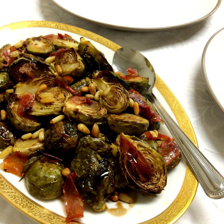 Caramelised Balsamic Brussel Sprouts with Pine Nuts and Pancetta - Shine Dining