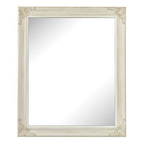 Found it at Wayfair - Dalton Antique White Wall Mirror