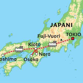 Japani auringon valtakunta kiertomatka Tokio - Kioto Albatros Travel