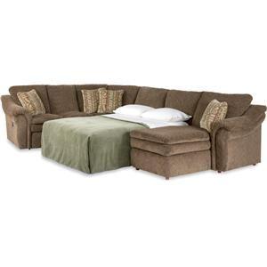 Devon 4 Piece Reclining Sectional Sofa w/ Sleeper by La-Z-Boy  sc 1 st  Pinterest & 61 best Furniture images on Pinterest | Reclining sectional sofas ... islam-shia.org