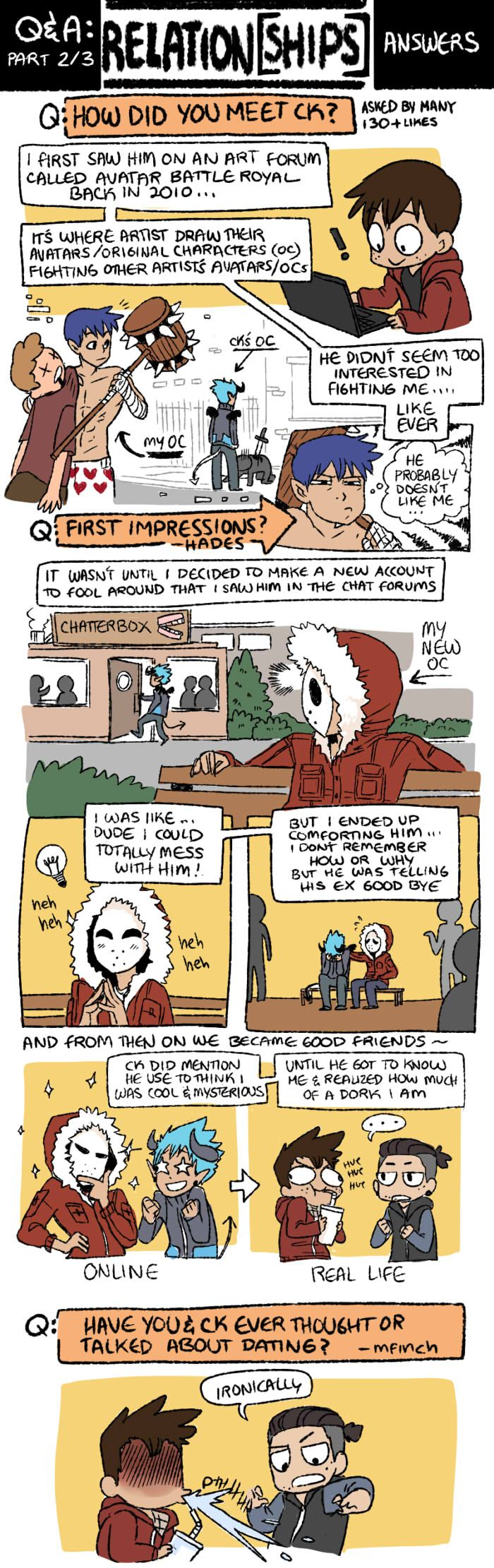 Mondo Mango :: Q&A Part 2: Relation[SHIPS] | Tapastic Comics - image 1