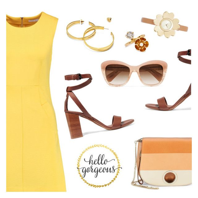 """""""Hello gorgeous!"""" by dressedbyrose ❤ liked on Polyvore featuring Diane Von Furstenberg, Vince, Oliver Peoples, Halston Heritage, Tory Burch, CA&LOU, Michael Kors, WALL, ootd and WhatToWear"""