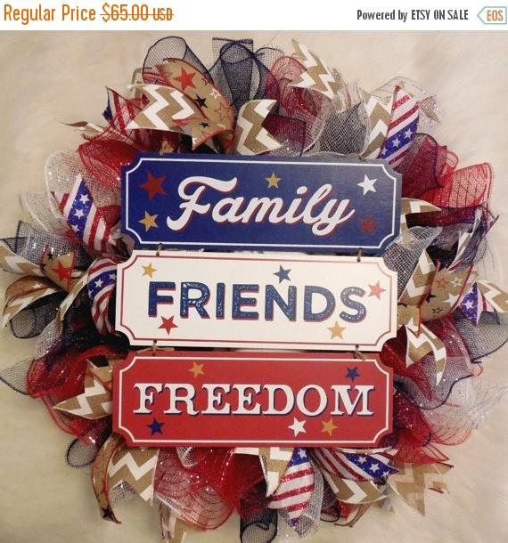 XMAS in JULY SALE-15%off Fourth of July Wreath, Fourth Of July, 4th of July Wreath, 4th of July, July 4th Wreath, Fourth of July Decor