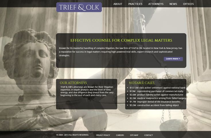Website for Trief and Olk