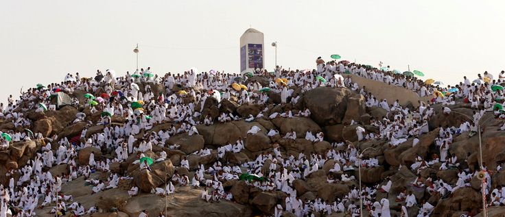 Muslim pilgrims gather on Mount Mercy on the plains of Arafat during the annual haj pilgrimage, outside the holy city of Mecca, Saudi Arabia September 11, 2016. REUTERS/Ahmed Jadallah TPX IMAGES OF THE DAY      - S1BEUAQPBFAB