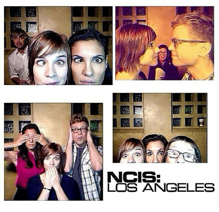 Behind the scenes of NCIS LA with kensi eric hetty deeks and nell