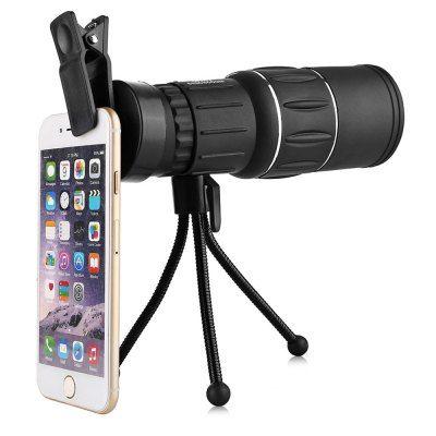 Telescope Phone - $9.99  Water-resistant 16 X 52mm  Clip Monocular   BLACK #Telescope, #Phone, #Clip, #Monocular, #телескоп, #смартфон