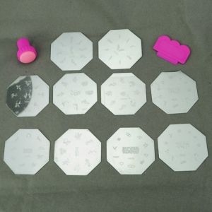 $3.49    Fun Nail Art Stamp Kit - Includes 12 Stamp Templates and Stamp Applictor