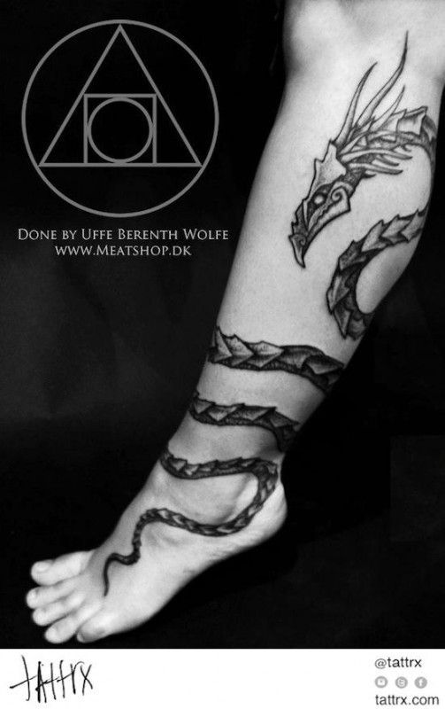 Snake Wrapped Around Thigh Tattoo: Forget Chuck Taylors, These Foot Tattoo Designs Make You