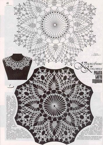 Crocheted doily/collar pattern