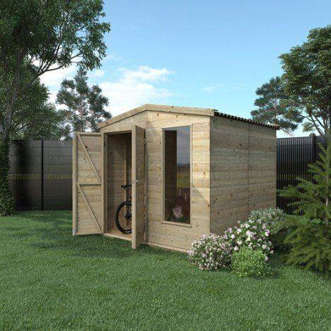 39 best Abri de jardin images on Pinterest Airplanes, Armoires and - construire un cabanon de jardin en bois
