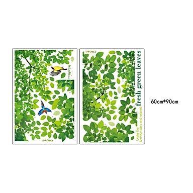 wall stickers Vægoverføringsbilleder, style friske grønne blade og fugl pvc wall stickers – DKK kr. 174