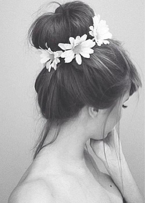 Flower wrapped bun
