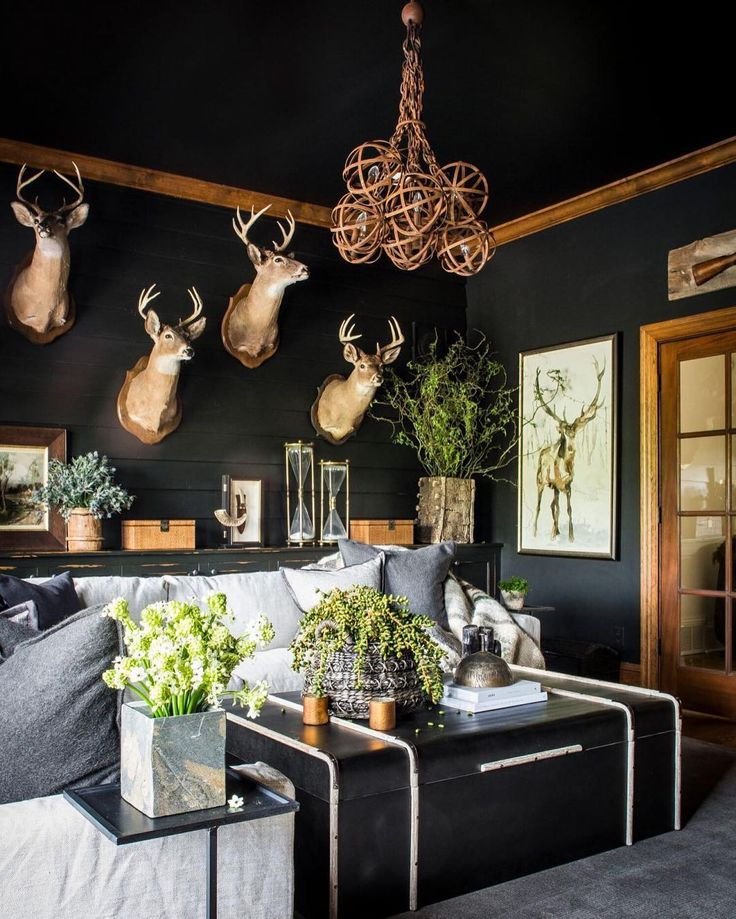 Sean Anderson Design  - I like this - a sort of modern, moody take on a hunting lodge