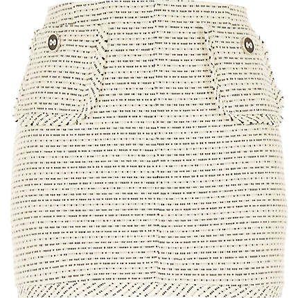 White woven boucle short skirt £30 #riverisland