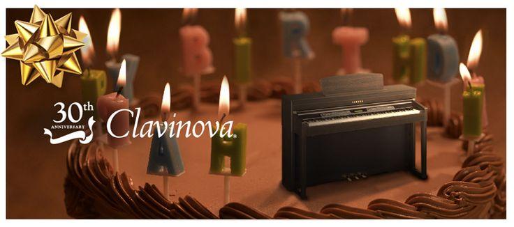 Wallpaper and paper craft in honor of the Yamaha Clavinova Piano's 30th Birthday!