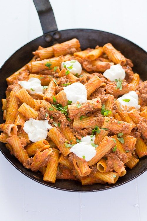 Easy, cheesy Ricotta Pasta with Beef! | Kitchen Gidget