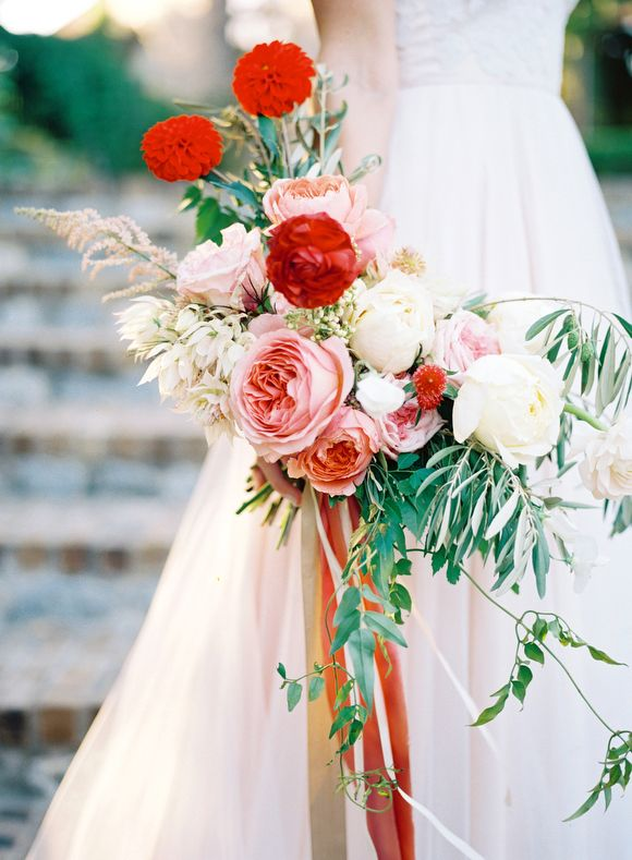 Pink and Red Italian Wedding Inspiration