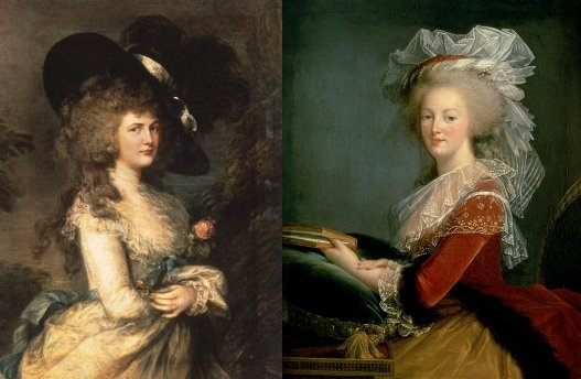 Marie Antoinette And Georgiana Duchess Of Devonshire were close, life long friends with much in common.