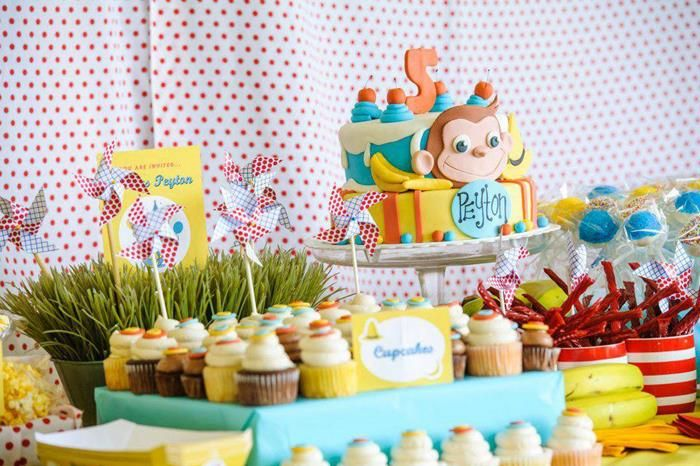 Curious George Pool Party via Kara's Party Ideas | Kara'sPartyIdeas.com #CuriousGeorge #Pool #Party #Idea (8)