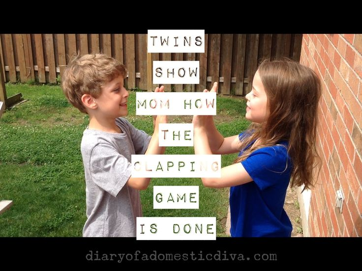 Adorable Twins Teach Mom A Classic Clapping Game