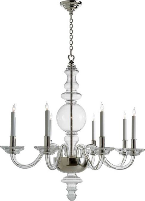 Contemporary Chandeliers For Dining Room With Round Candles And Crystal