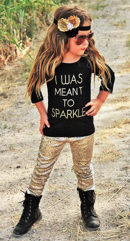 """I Was Meant To Sparkle"" Boutique Outfit"