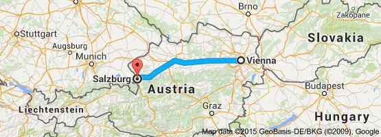From: Vienna, Austria To: Salzburg, Austria