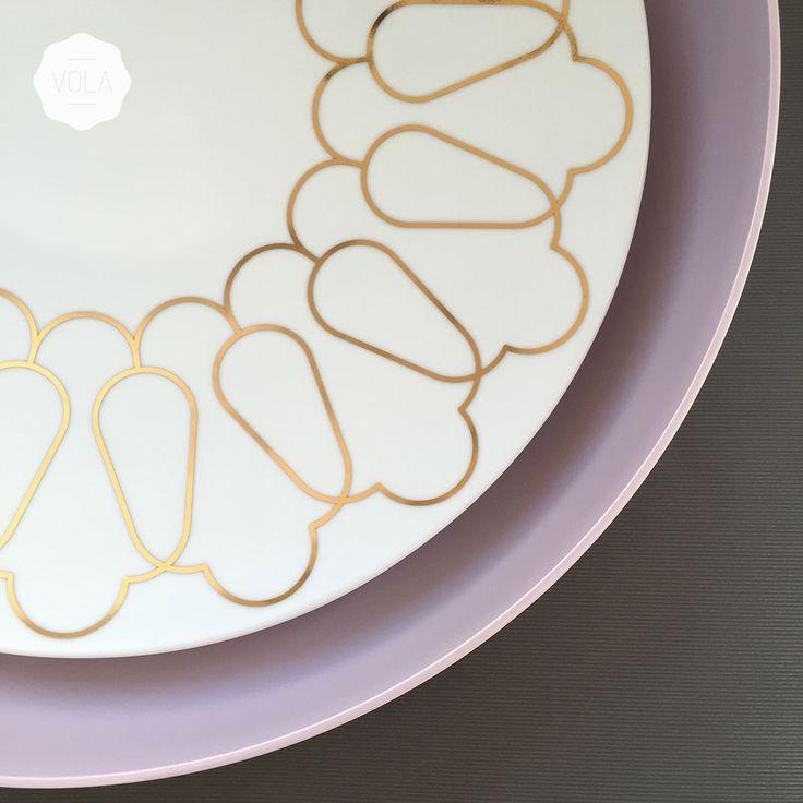 Hand blown glass & finest porcelain with unique 24k gold decorations. Shop online at... : www.vola.com.pl #vola #art #deco #porcelain #glass #24k #gold #exclusive #gift #packaging #design #branding #fusion #style #inspiration #pantone #keepsake #lilac