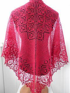 Free shawl lace knitting pattern