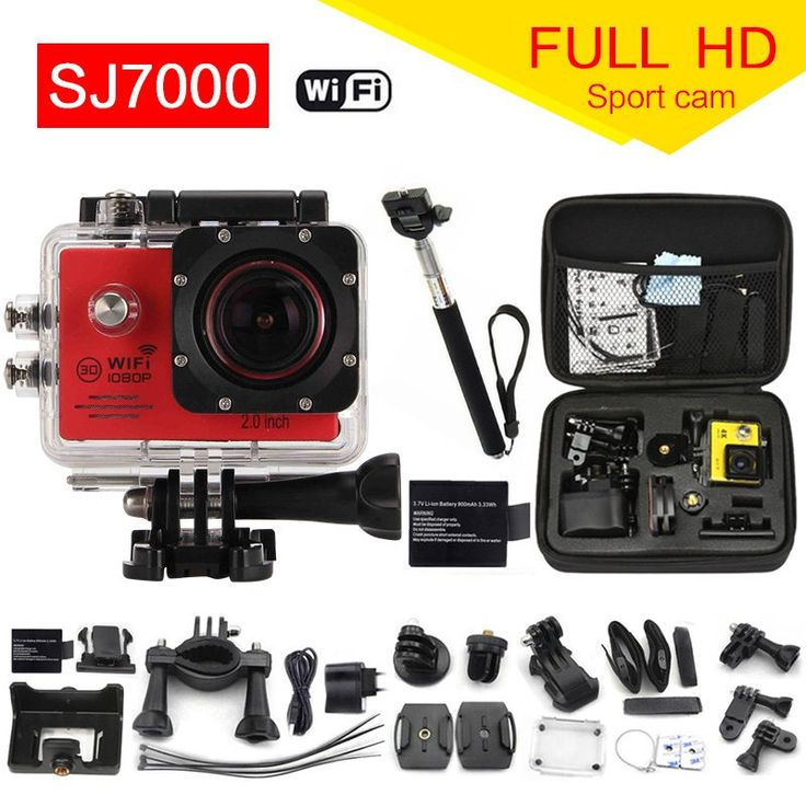 Action Camera 1080P WiFi  go pro Sport camera extreme Diving Helmet Waterproof mini Cam+monopod+bag 7000 //Price: $0.00//     #gadgets